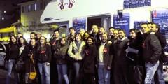 La tappa Aperitivo al Pinch con l'Ass. Granelli, il Consigliere Comunale Gibillini e il Criminologo Achille Saletti Photo by Viatceslav Pilolli